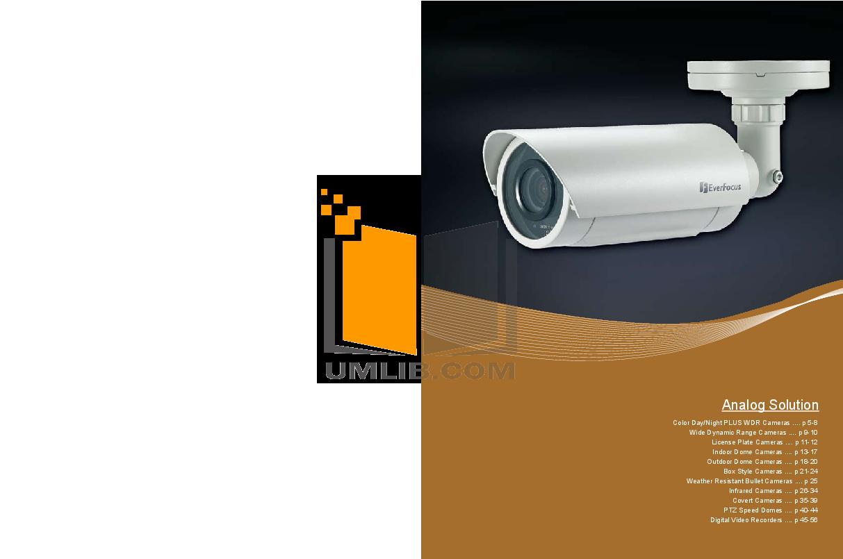 pdf for EverFocus Security Camera ED330 manual